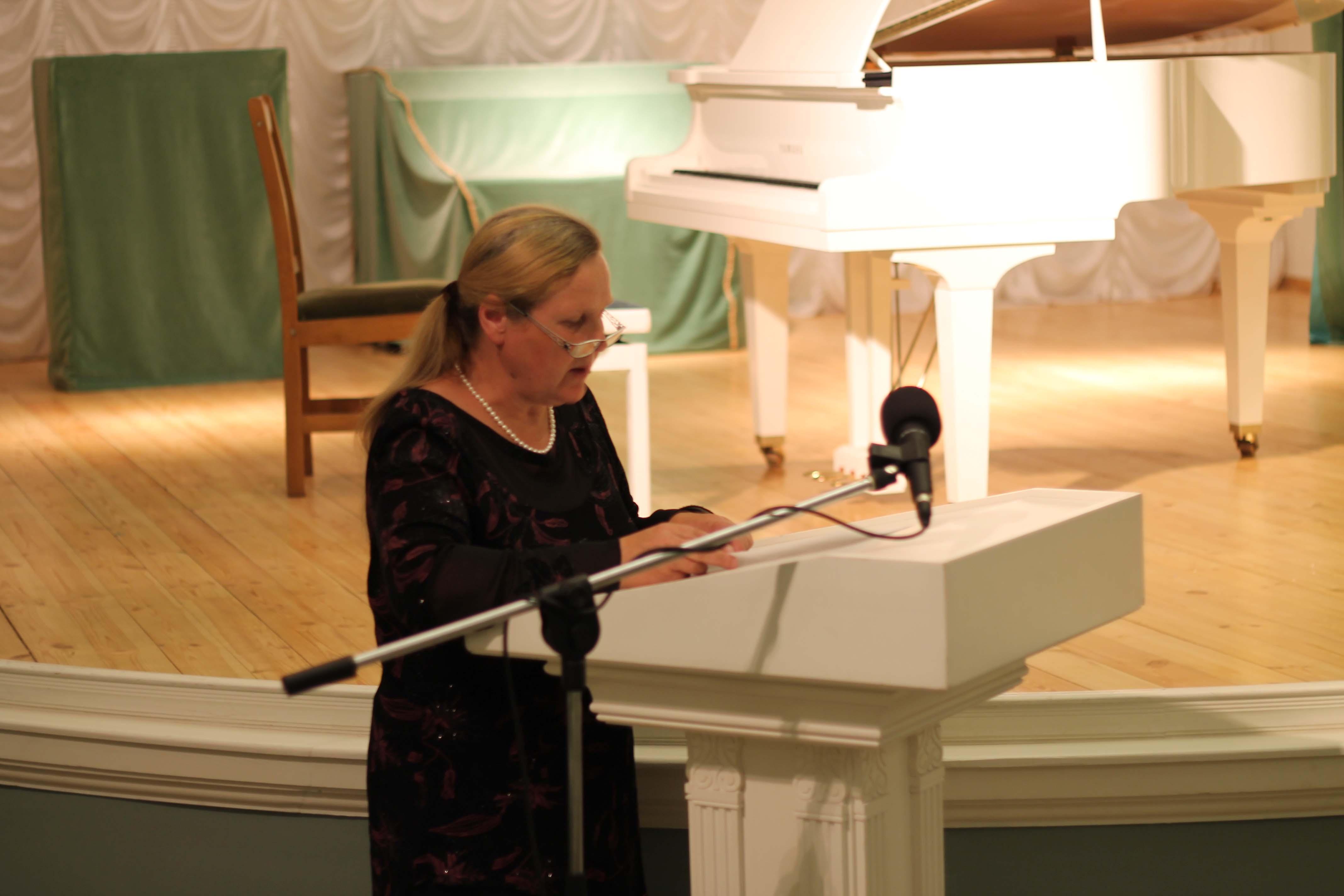 В литературной части Эмма Прибыльская представила произведение, написанное на музыку симфонической поэмы «Spes», созданной на белорусской земле нашим современником, молодым венесуэльским композитором Херардо Эстрадой.